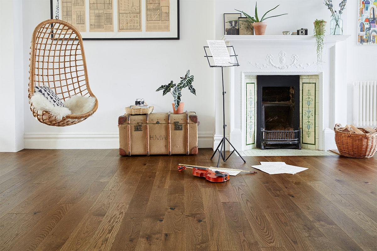 Home Choice Engineered European Rustic Oak Flooring 130mm Brown Sugar Lacquered