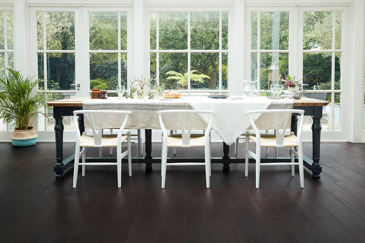 ... Home Choice Engineered European Rustic Oak Flooring 180mm Liquorice  Lacquered ...