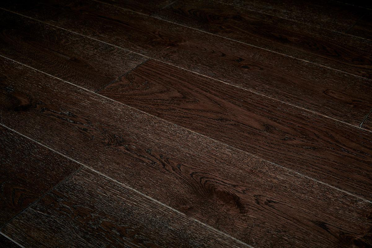 Home Choice Engineered European Rustic Oak Flooring 180mm Liquorice Lacquered