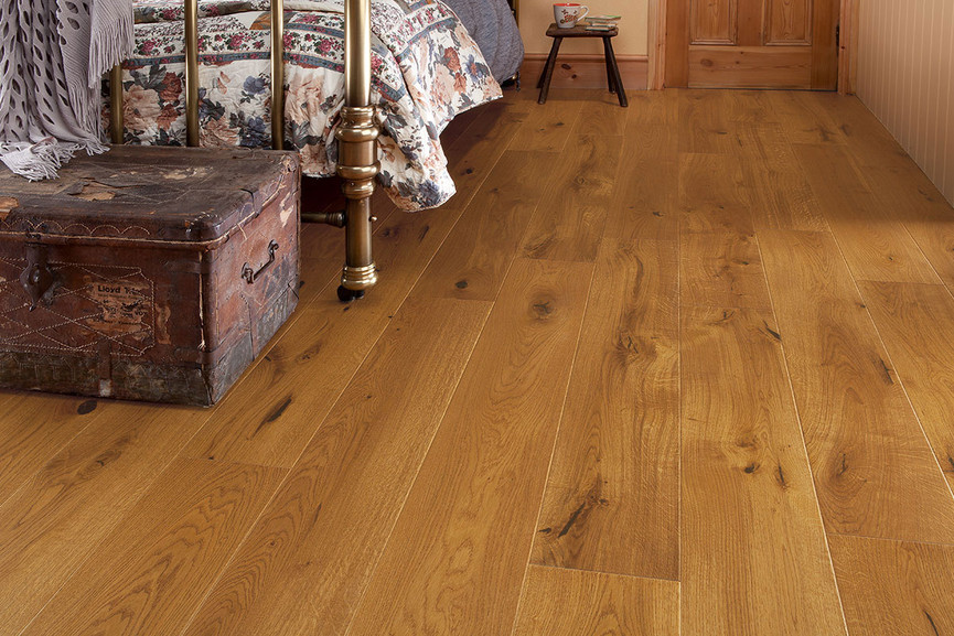 Home Choice Engineered European Oak Honey Lacquered Flooring