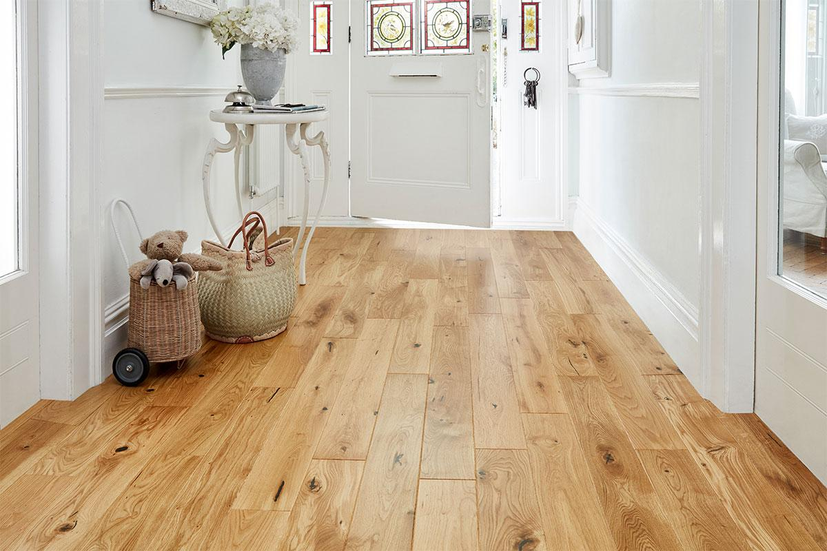 Home Choice Engineered European Rustic Oak Flooring 130mm Natural Lacquered