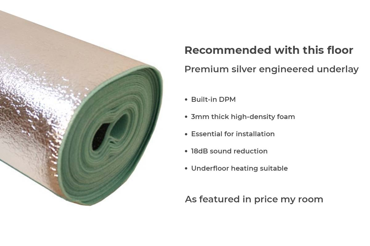 Home Choice Engineered European Rustic Oak Flooring 180mm Paloma Grey Lacquered