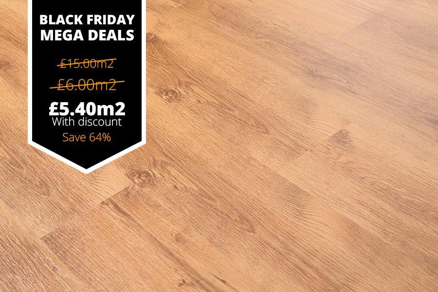 Mega Deal 6mm Laminate Flooring Oak Natural