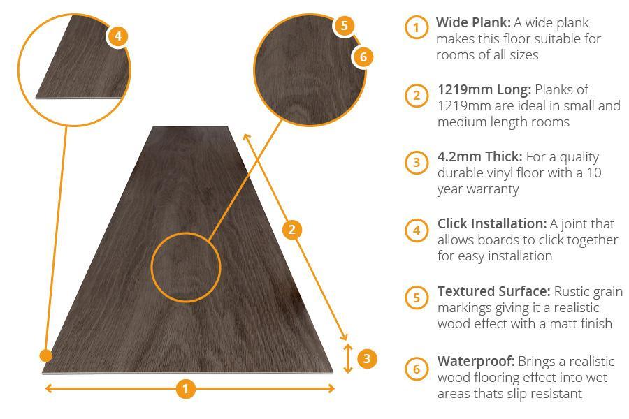 Spectra Morning Oak Plank Luxury Click Vinyl Flooring