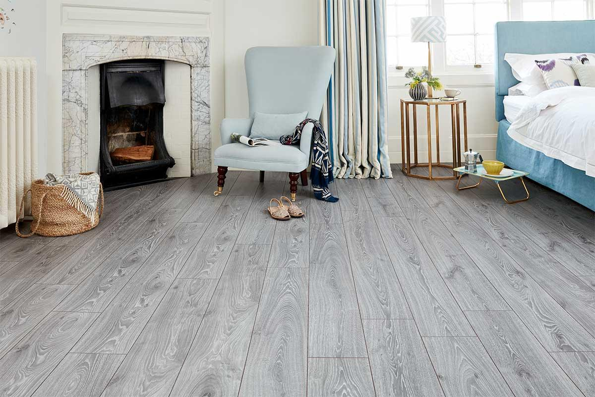 Series Woods Professional 12mm Laminate Flooring Grey Oak