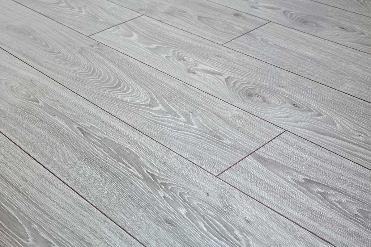 Gray Laminate Flooring : Series woods professional mm laminate flooring oak grey