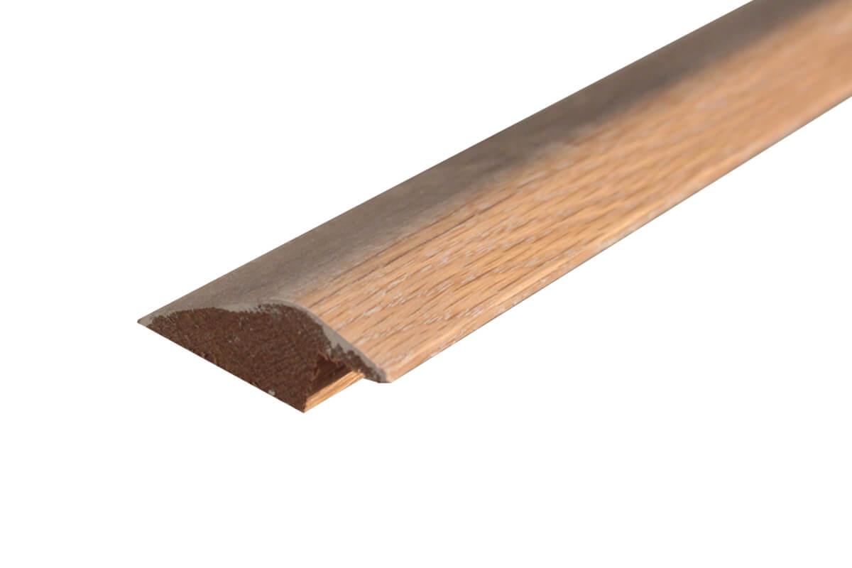 Solid Hardwood Ramp Profile 2m White Wash