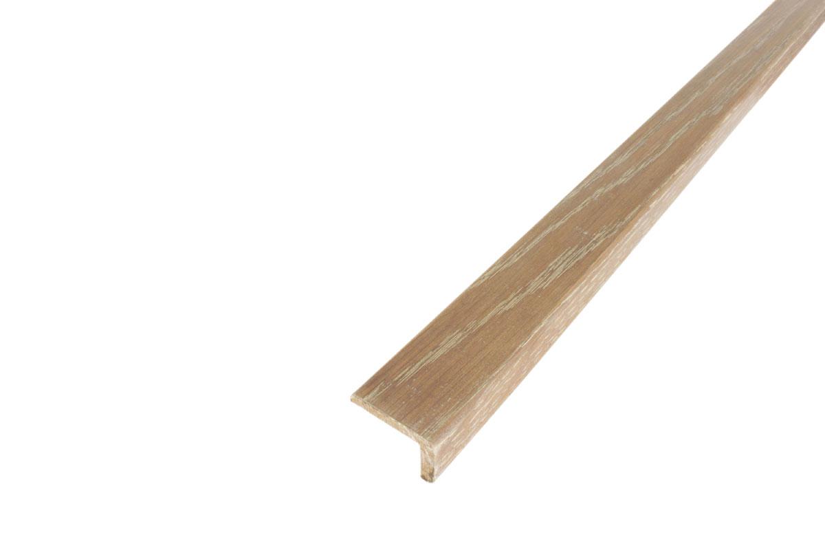 Solid Hardwood Stair Nosing 1m White Fumed