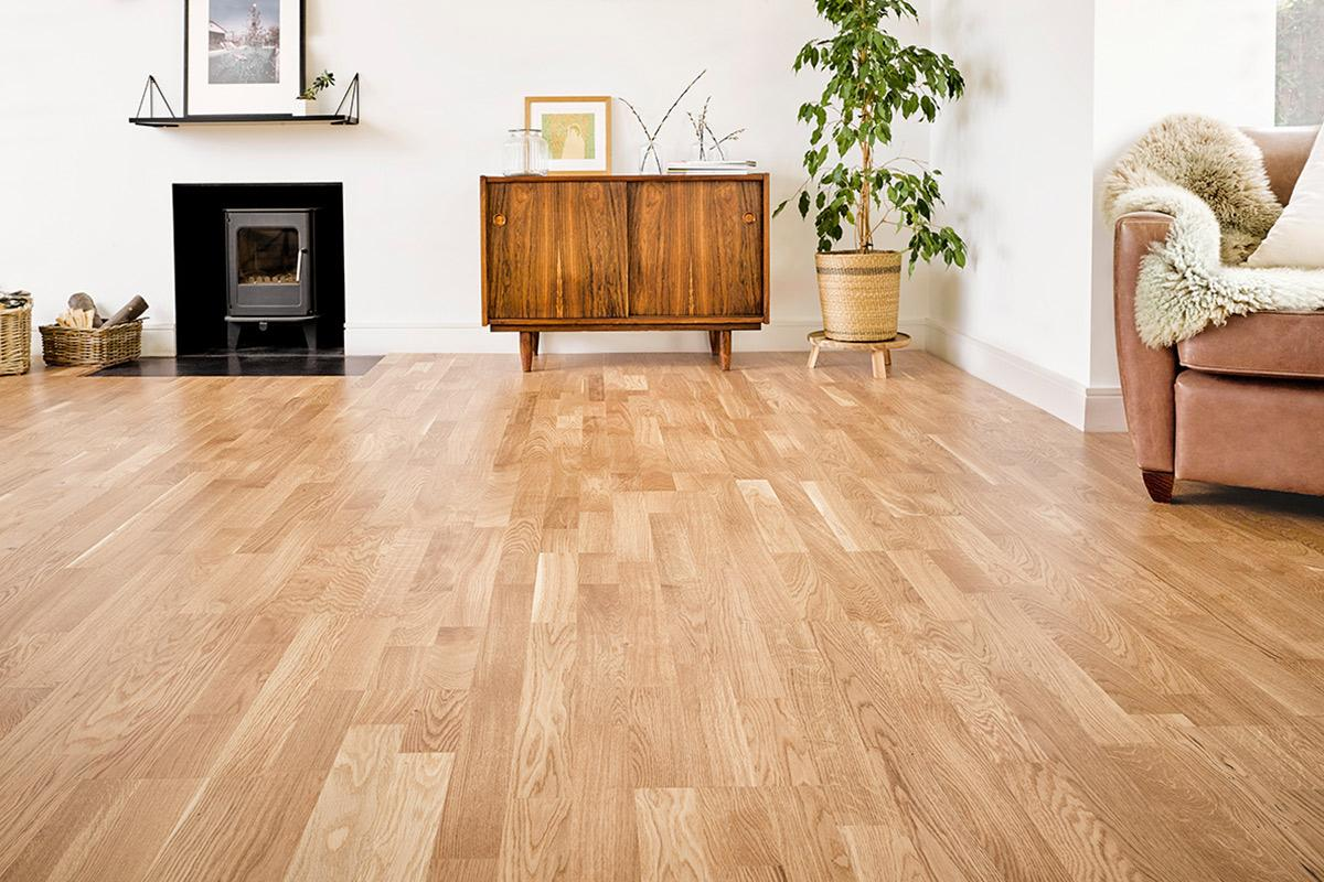 Mega Deal Engineered European Oak Flooring 3 Strip Lacquer