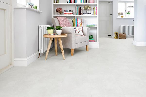 Spectra Polar White Stone Tile Luxury, White Linoleum Flooring