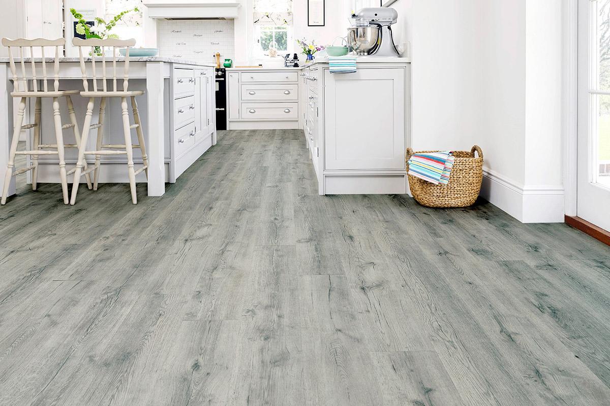 Spectra Rustic Grey Oak Plank Luxury Click Vinyl Flooring