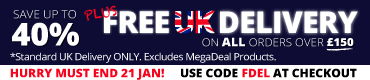 SAVE UP TO 40% + FREE STANDARD UK DELIVERY USE CODE FDEL AT THE CHECKOUT