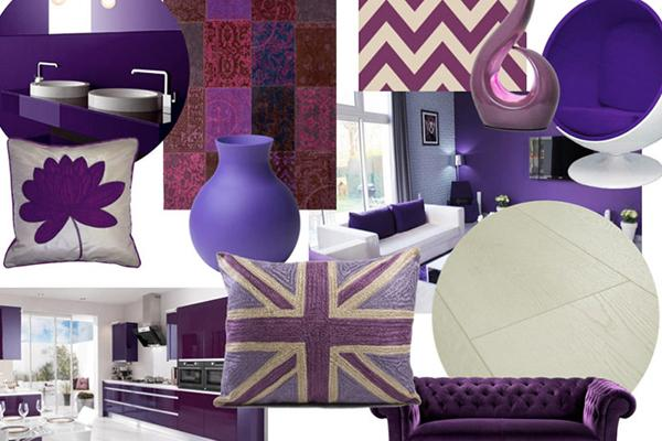 Get The Look Purple Mood Board