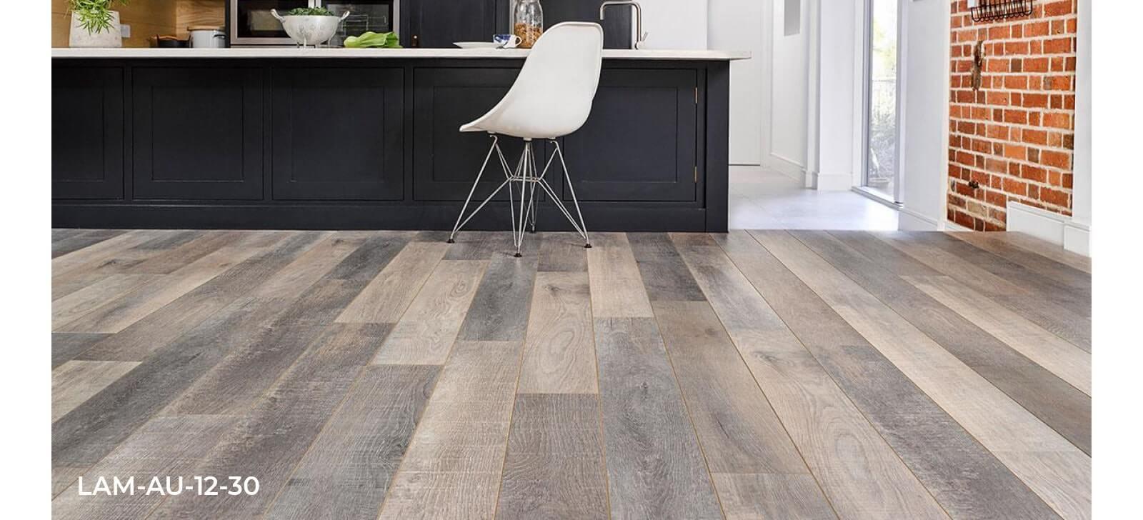 Audacity Woodland Oak laminate flooring Kitchen roomset