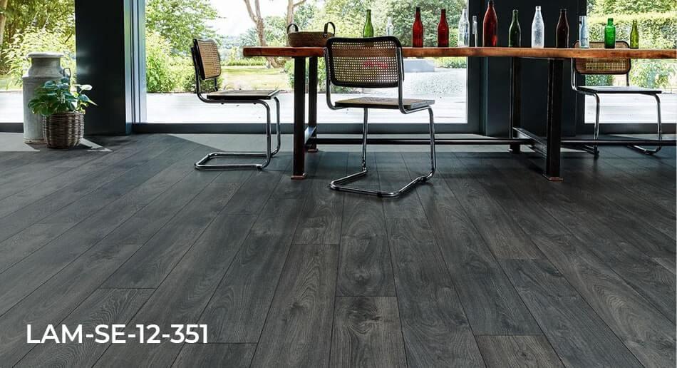 Series Woods Professional Raven Oak laminate flooring dining room roomset