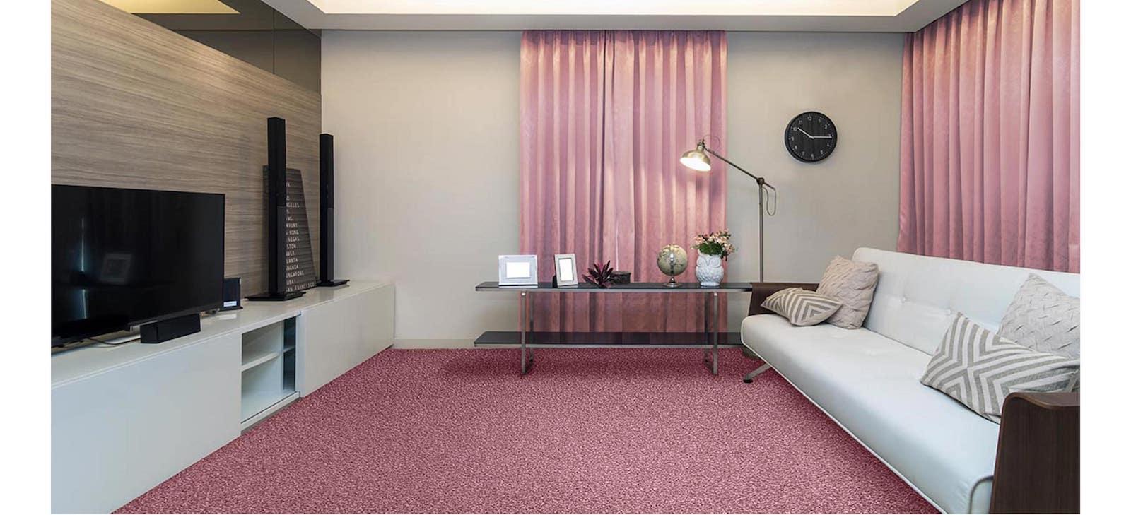 living room pink carpet