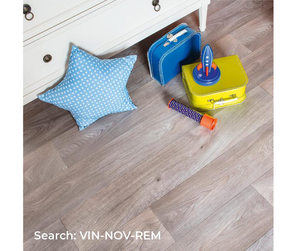 Playroom top shot with Aquarius Meteor plank effect sheet vinyl flooring