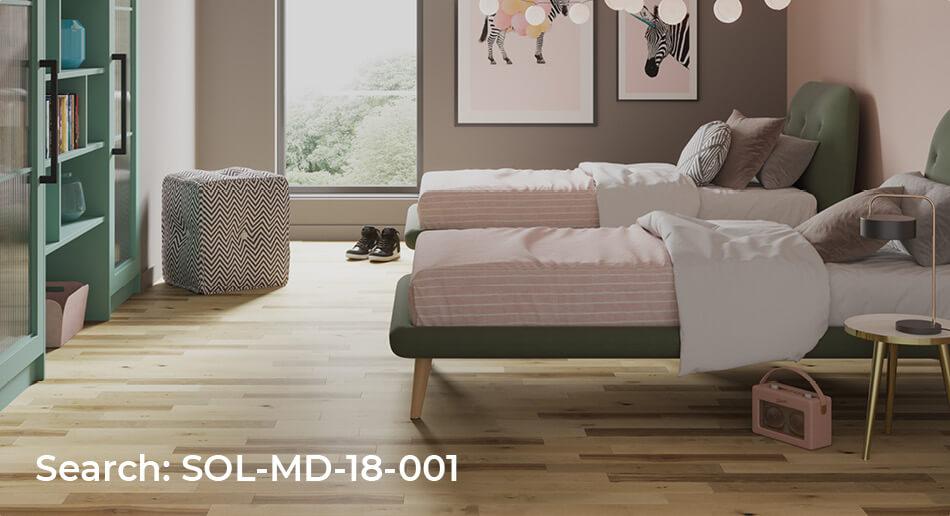 Mega Deal real wood bedroom floor roomset