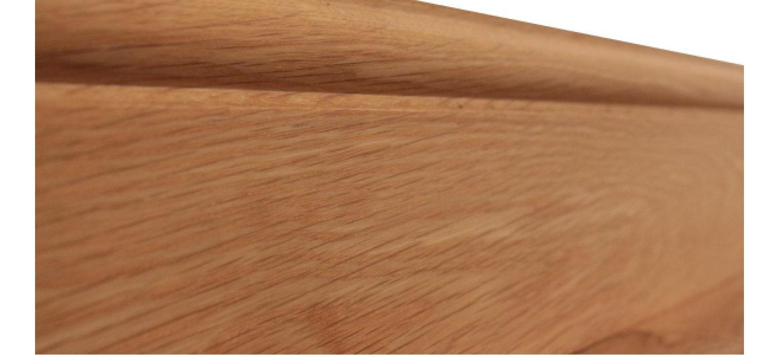 Unpainted wooden skirting