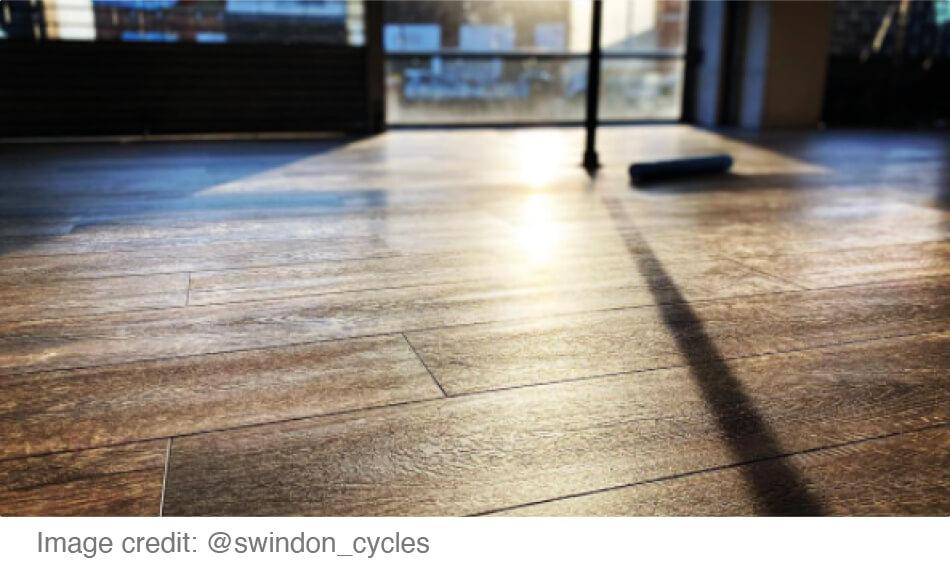 Dark vinyl flooring