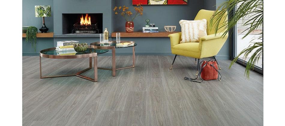 glue down vinyl floor living room