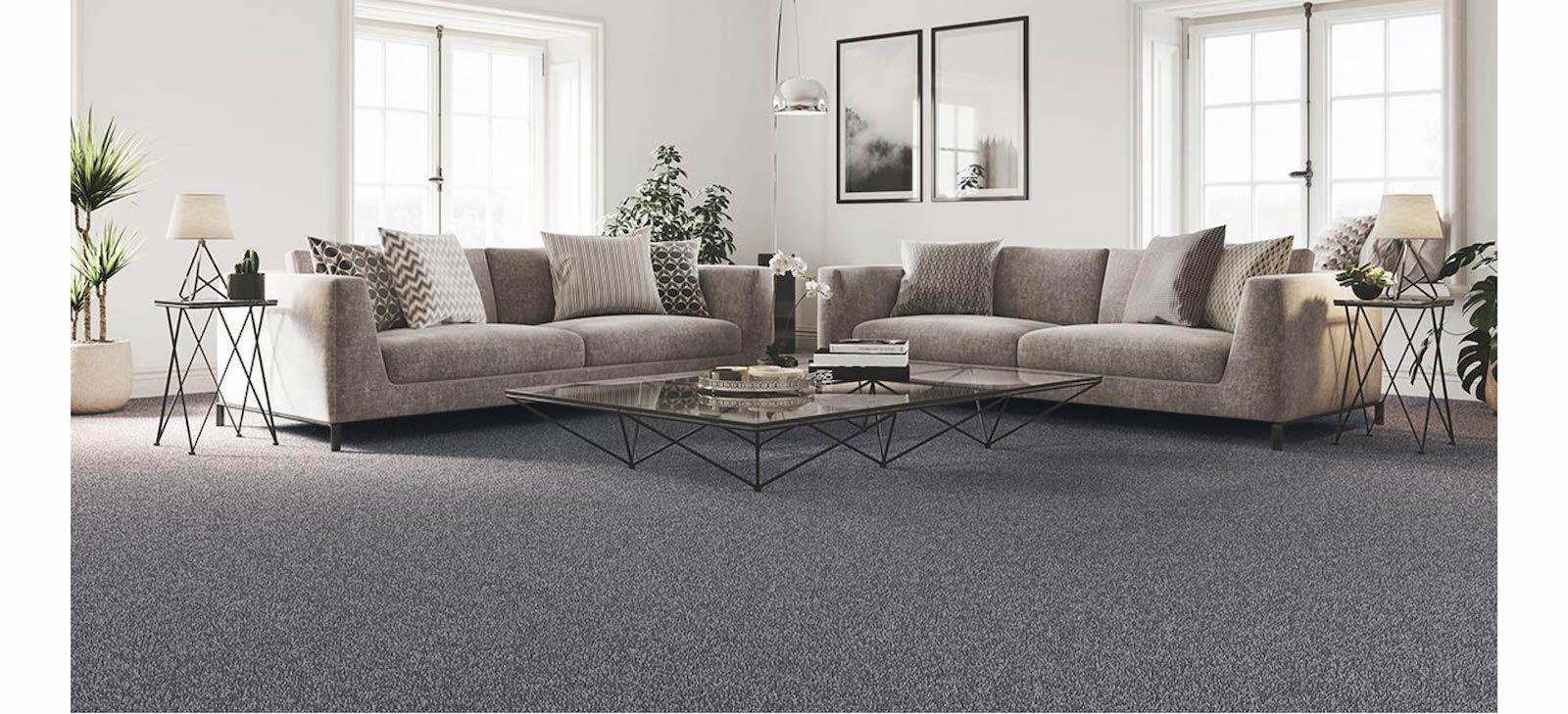 Dark grey carpet living room