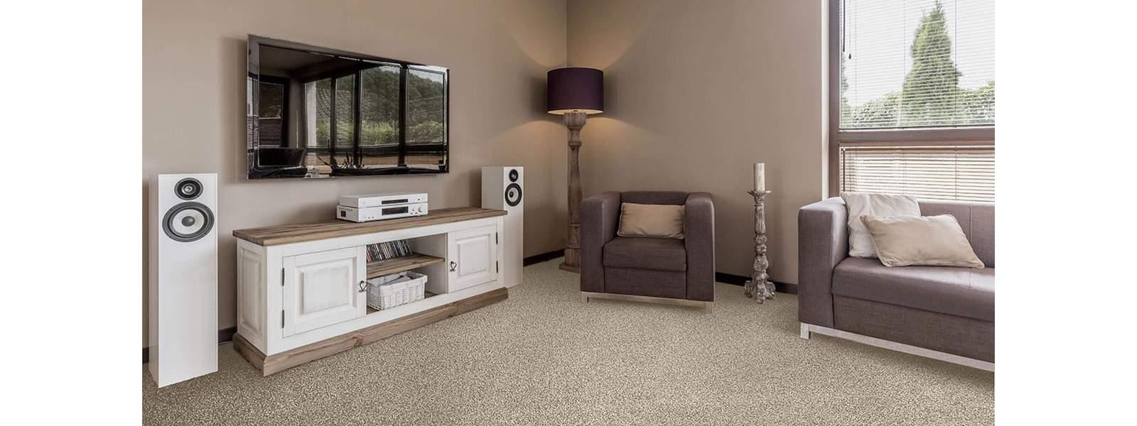 Shabby Chic Lounge Roomset with Beige Carpet