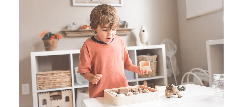 child playing in room