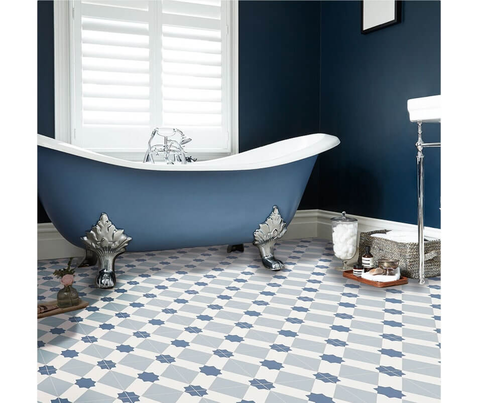 sheet vinyl bathroom pattern